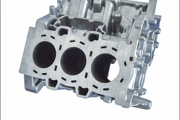V6 gasoline engine cylinder block
