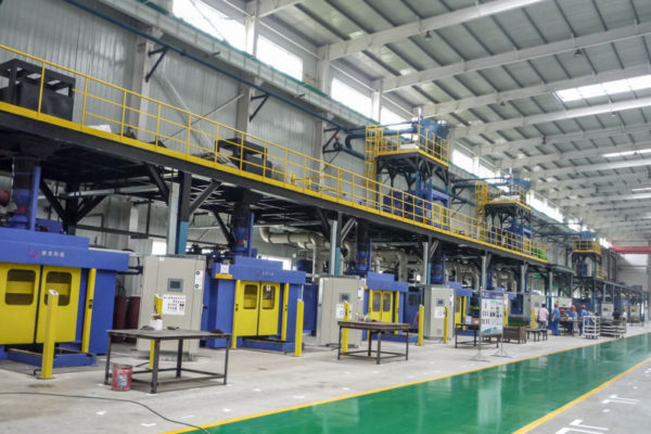 Aluminum cylinder head core making line (2)