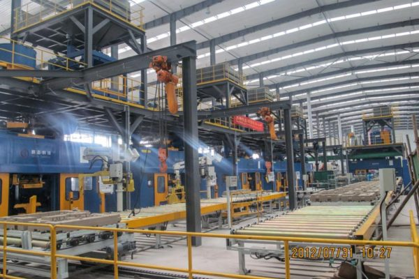 Cast Iron Cylinder Head Core Package Production Line