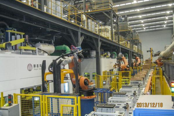 Cast Iron Engine Block Core Package Production Line