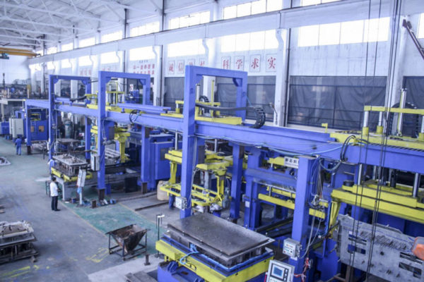 Cast Steel Bolsters and Side Frames Automatic Core Production Line