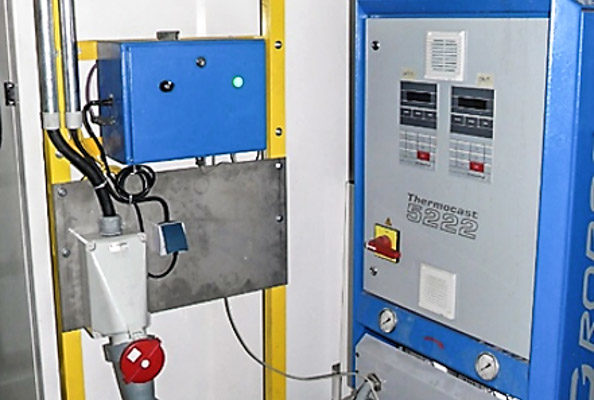 Corebox Oil heating system for use in the Inorganic Process