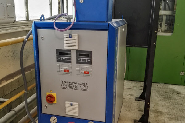 Corebox oil heating system for the Inorganic Process