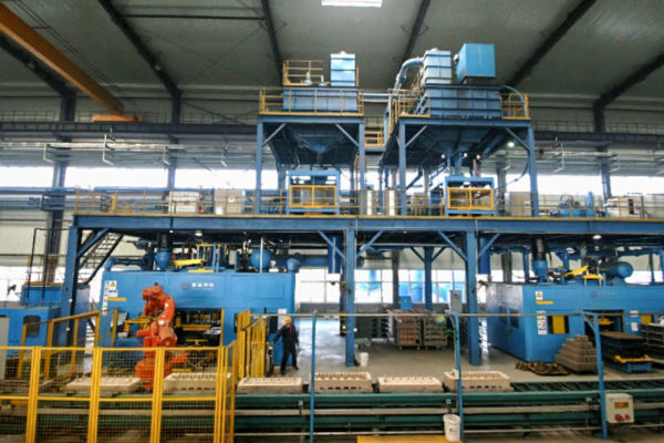 Cylinder Head Core Making Line (Core package process)